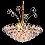 Atlantis Design 8-Light 17'' Chrome or Gold Mini Chandelier Dressed with European or Swarovski Crystals SKU# 10222