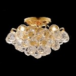 Atlantis Design 4-Light 12'' Chrome or Gold Ceiling Flush Mount Dressed with European or Swarovski Crystals SKU# 11373