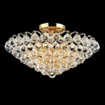 Atlantis Design 9-Light 21'' Gold or Chrome Ceiling Flush Mount Dressed with European or Swarovski Crystals SKU# 10227