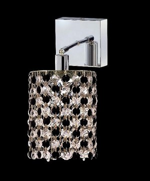 "Hollywood Design 1-Light 5"" Round Wall Sconce  30% Lead or Swarovski Spectra Crystal SKU# 11326"