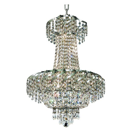 "Belenus Collection 6-Light 18"" Chrome Chandelier with Clear  Swarovski Strass Crystal ECA2D18C/SS"