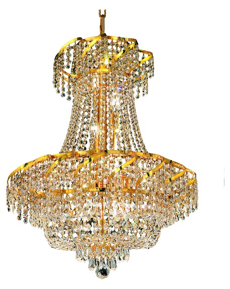 "Belenus Collection 11-Light 22"" Gold Chandelier with Clear  Swarovski Strass Crystal ECA2D22G/SS"