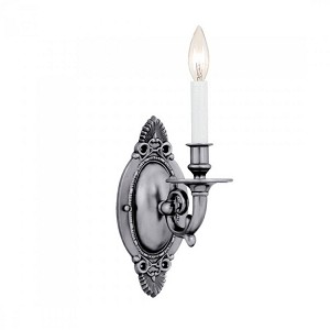 "Arlington Collection 1-Light 4"" Pewter Wall Sconce 621-PW"