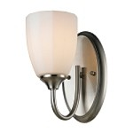 "Ridgeway Collection 1-Light 5"" Brushed Nickel LED Wall Sconce with Opal Glass 11420/1-LED"