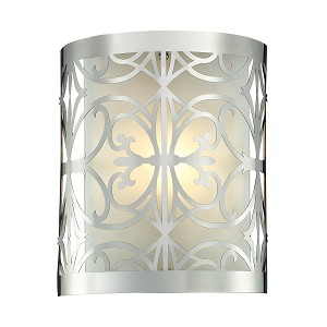 "Willow Bend Collection 1-Light 8"" Polished Chrome Laser-Cut Wall Sconce 11430/1"