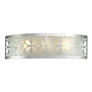 "Willow Bend Collection 3-Light 25"" Polished Chrome Laser-Cut Bathroom Light Fixture 11432/3"