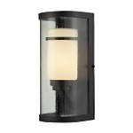 "Caldwell Collection 1-Light 14"" Oiled Bronze LED Outdoor Wall Sconce 14101/1-LED"