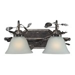 "Maribella Collection 2-Light 16"" Deep Rust Bathroom Vanity Fixture with Crystal 16026/2"