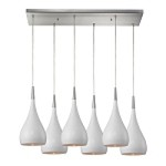 "Lindsey Collection 6-Light 30"" White Glass Rectangular Pendant 31341/6RC-WH"