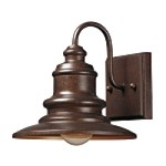 "Marina Collection 1-Light 8"" Hazelnut Bronze Nautical LED Outdoor Wall Lantern 47010/1-LED"