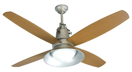 Craftmade Two Light Galvanized Ceiling Fan - UN52GV4