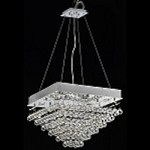 "Drops of Rain Design 8-Light 24"" Square Ceiling Mount Dressed with European or Swarovski Crystals SKU* 10287"