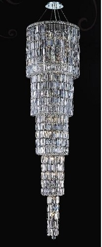 "Maxim Collection 22-Light 80"" Chrome Crystal Chandelier 2030G80C"