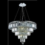 "Maxim Collection 14-Light 26"" Chrome Crystal Chandelier 2036D26C"