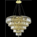 "Maxim Collection 17-Light 30"" Gold Crystal Chandelier 2036D30G"