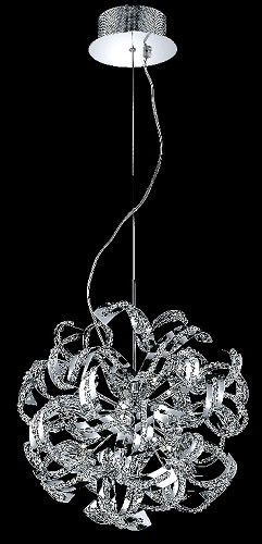"Tiffany Collection 13-Light 22"" Chrome Crystal Pendant Chandelier 2068D22C/EC"