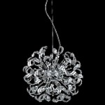 "Tiffany Collection 25-Light 27"" Chrome Crystal Pendant Chandelier  2068D27C/RC"