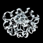 "Tiffany Collection 12-Light 21"" Chrome Crystal Flush Mount Ceiling Fixture 2068F21C/RC"