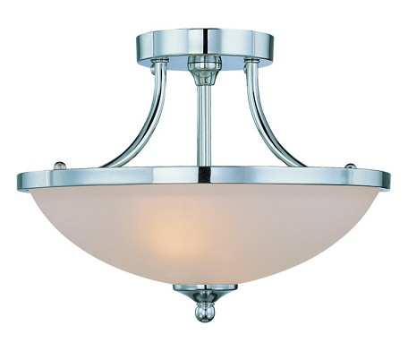 Jeremiah Two Light Chrome Bowl Semi-Flush Mount - 26122-CH