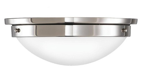 "American Foursquare Collection 2-Light 12"" Polished Nickel Flush Mount FM228PN"