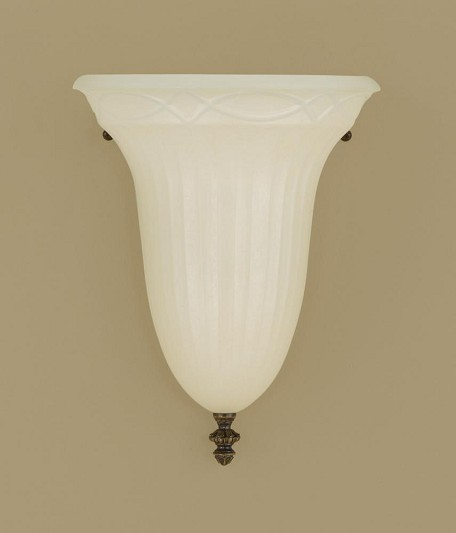 "Drawing Room Collection 1-Light 9"" Walnut Wall Sconce with Amber Snow Savo Glass Shade WB1331WAL"
