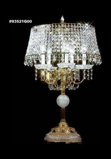"Boutique Collection 5-Light 32"" Royal Gold Table Lamp with Swarovski® ELEMENTS® Crystal 93521G00"