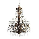 "Ravenna Collection 21-Light 79"" Grande Chandelier with Crystal 2101RVN"