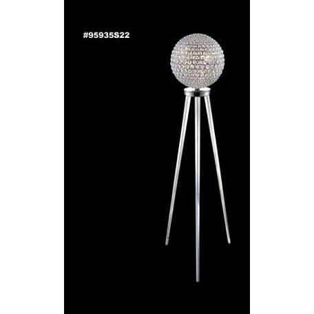 "Sun Sphere Europa Collection 8-Light 62"" Silver Floor Lamp with Swarovski® SPECTRA® Crystal 95935S11"