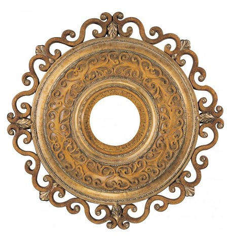 Tuscan Patina 22In. Ceiling Medallion From The Napoli Collection