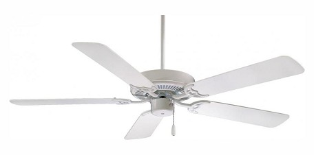 White Contractor 42In. 5 Blade Indoor Ceiling Fan With Blades Included