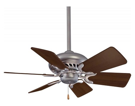 Brushed Steel 6 Blade 32In. Ceiling Fan - Blades Included