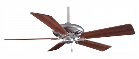Brushed Steel 5 Blade 52In. Ceiling Fan - Blades Included