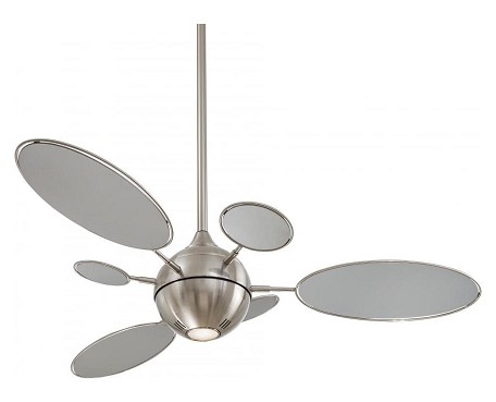 Brushed Nickel 6 Blade 54In. Ceiling Fan - Light And Wall Control Included