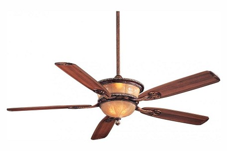 Cattera Bronze 5 Blade 60In. Ceiling Fan - Light, Wall Control And Blades Included