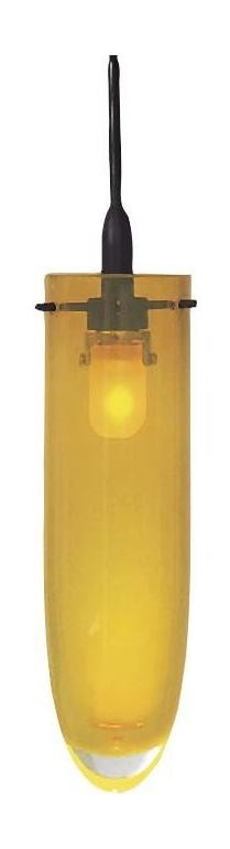 Yellow Hand Blown Bullet Style Glass Shade in Yellow for the Series 6 GK LIGHTRAIL Series