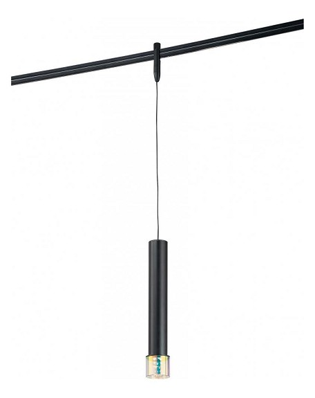 Sable Bronze Patina 2in. Diameter LED Pendant Fixture  from the GK LIGHTRAIL Series