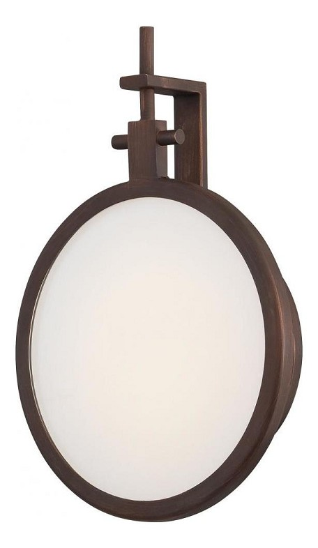 Copper Bronze Patina 1 Light ADA Compliant LED Wall Sconce in Copper Bronze Patina from the Loupe Collection