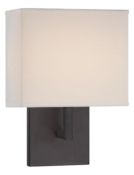 Bronze 1 Light 11.25in. Height ADA Compliant Wall Sconce with Square Shade