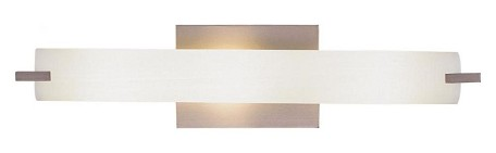 Brushed Nickel 3 Light 20.5in. Width ADA Compliant Bathroom Bath Bar from the Tube Collection