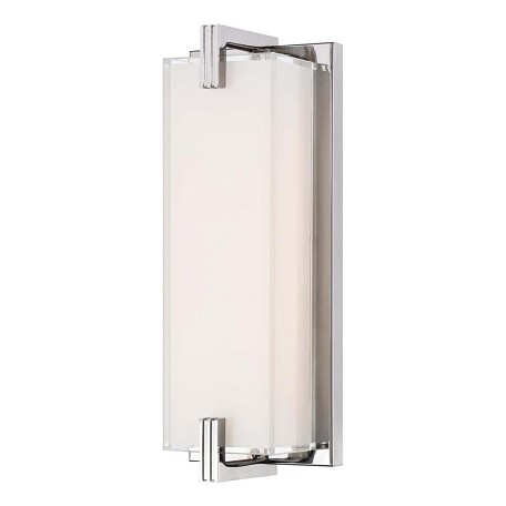 Chrome 1 Light ADA Compliant Wall Sconce from the Cubism Collection
