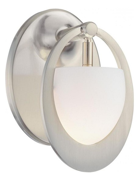 Brushed Nickel 1 Light 4.5in. Width Bathroom Sconce from the Earring Collection