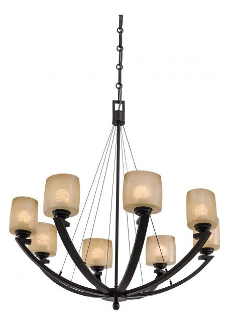Iron Oxide 8 Light 1 Tier Suspension Chandelier From The Radius Collection