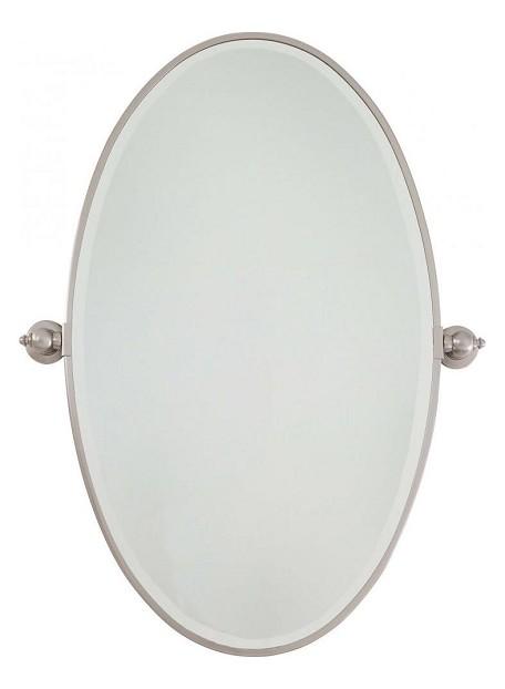 Minka Lavery 1432 84 Brushed Nickel Extra Large Oval Pivoting Bathroom Mirror