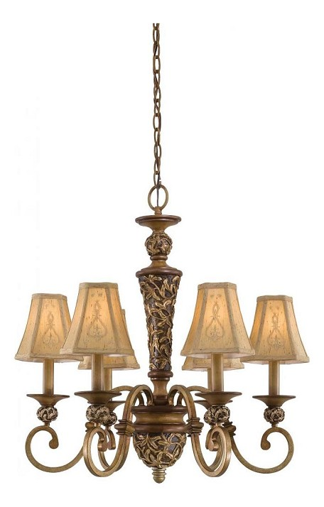 Florence Patina 6 Light 1 Tier Chandelier From The Salon Grand Collection