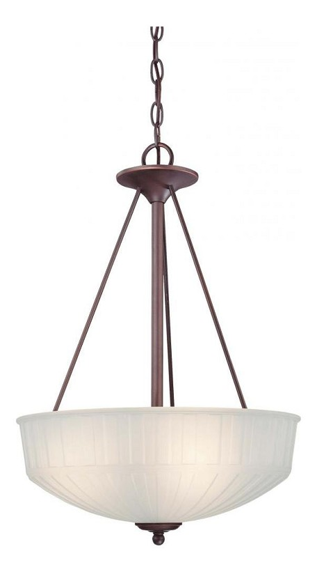 Lathan Bronze 3 Light Indoor Bowl Shaped Pendant From The 1730 Collection