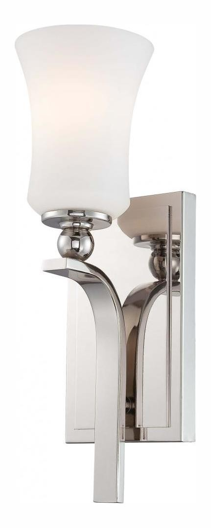 Polished Nickel 1 Light Wall Sconce From The Ameswood Collection