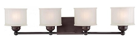 Lathan Bronze 4 Light Bathroom Vanity Light From The 1730 Series Collection