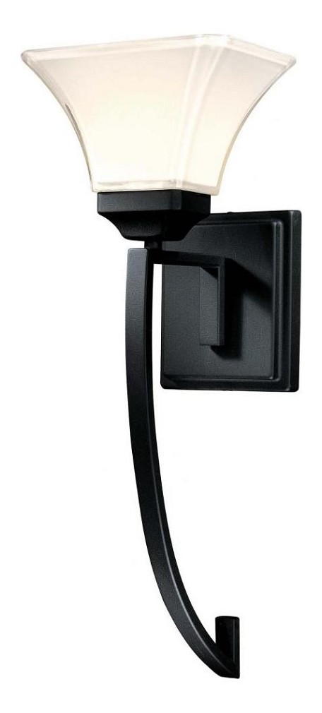 Black 1 Light Wallchiere Wall Sconce From The Agilis Collection