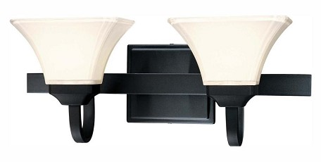 Black 2 Light Bathroom Vanity Light From The Transitional Bath Art Collection
