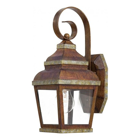 1 Light Outdoor Wall Sconce With Mossoro Finish